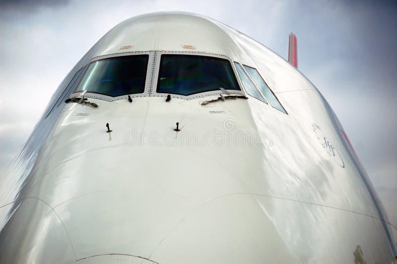 747 Jumbo Jet. Passenger airliner royalty free stock image