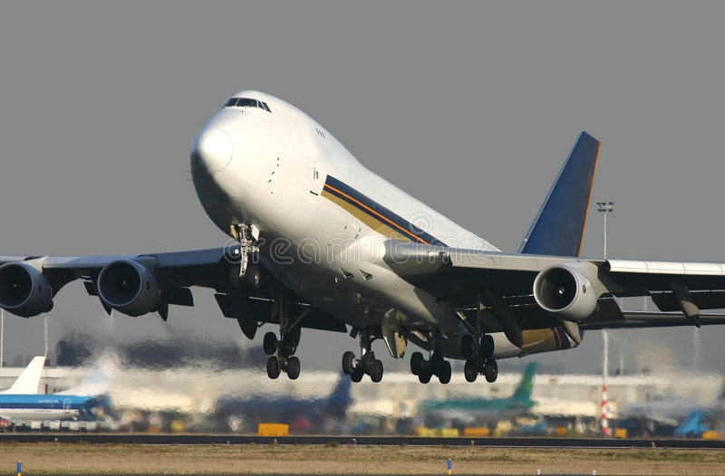 747 Takeoff royalty free stock images