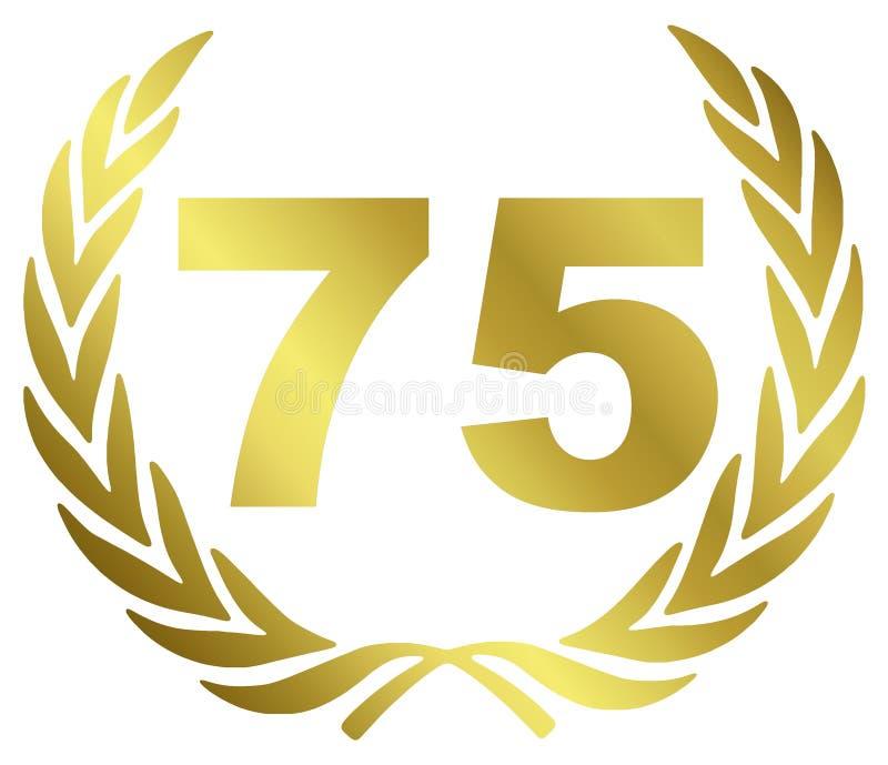 75 Anniversary stock illustration