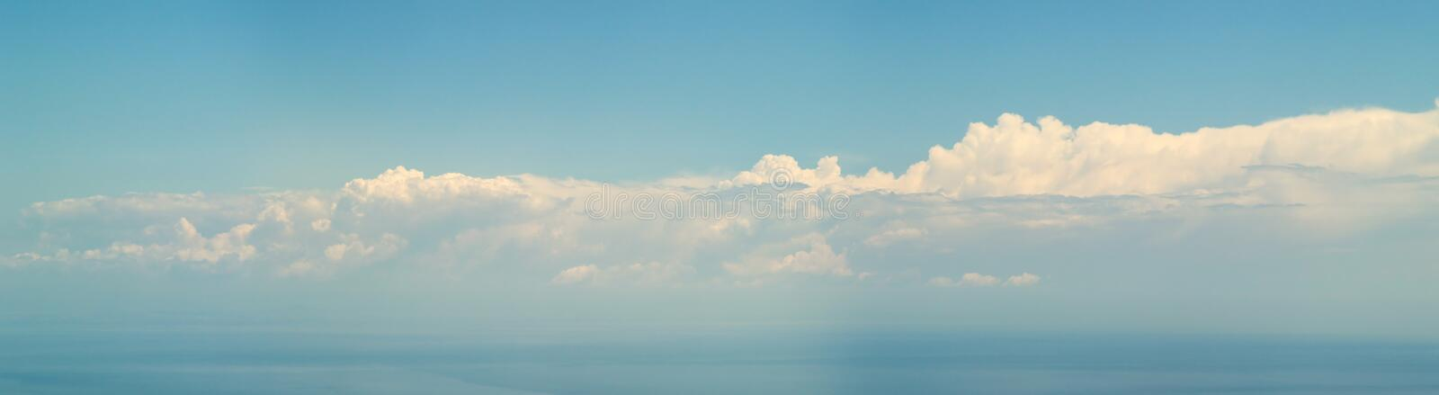 7500px clouds over sea - Panorama royalty free stock image