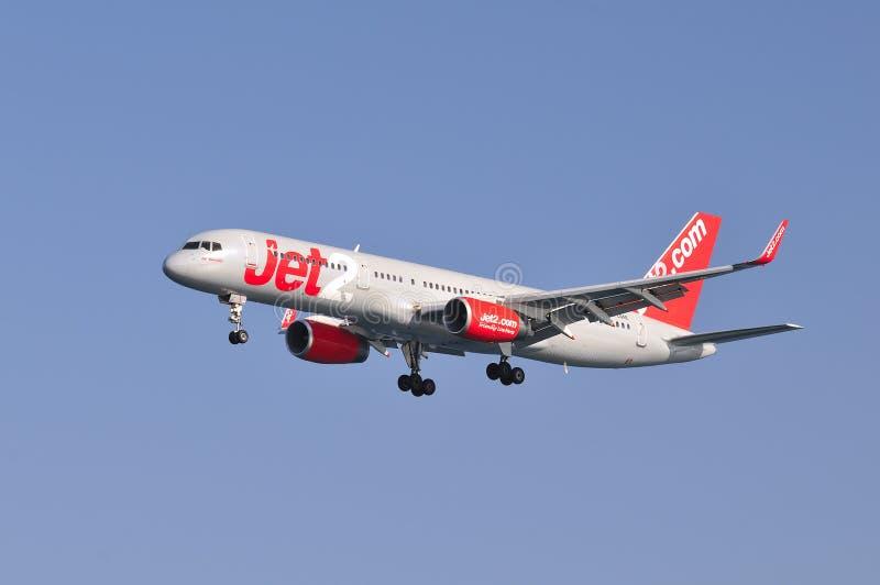 757 boeing jet2 royaltyfria foton