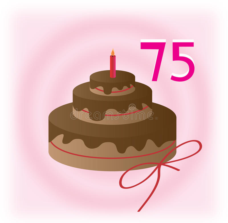 75th день рождения бесплатная иллюстрация