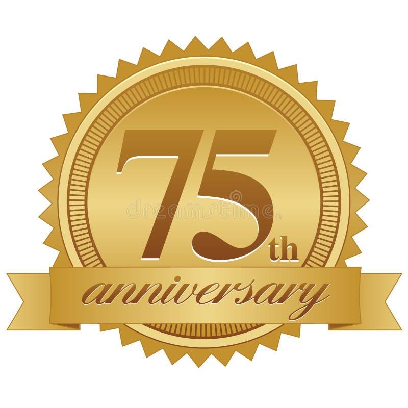 75th Selo do aniversário ilustração royalty free
