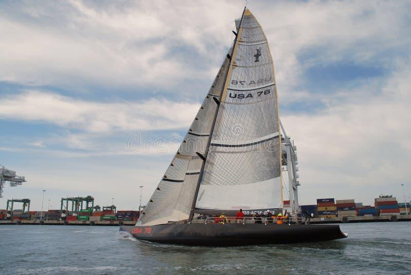 76美国班级奖杯s美国游艇 库存照片
