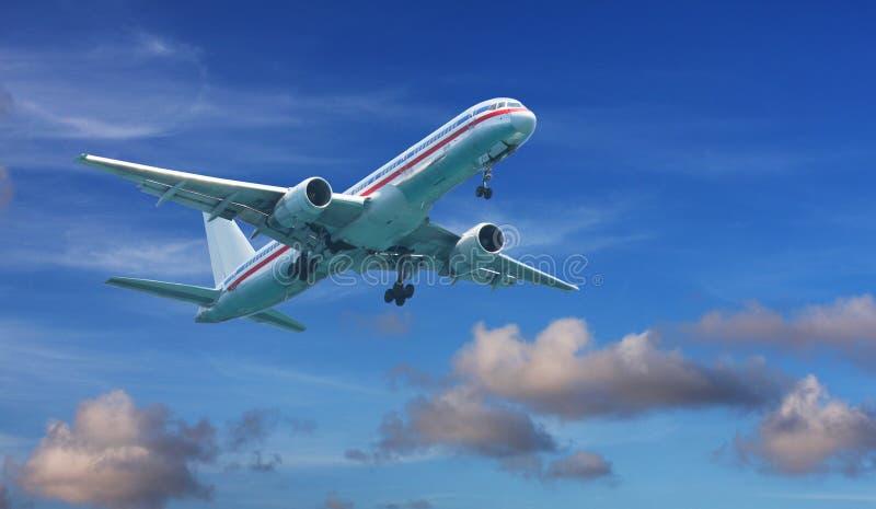 767 Boeing από τη λήψη στοκ φωτογραφία με δικαίωμα ελεύθερης χρήσης
