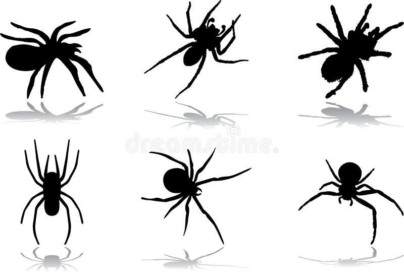 77 спайдеров halloween иллюстрация вектора