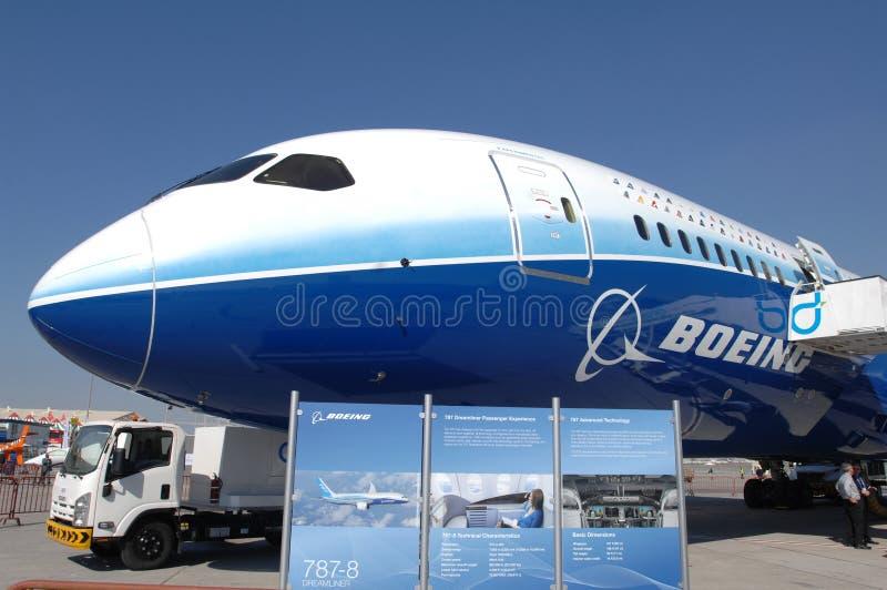787 boeing dreamliner arkivfoto