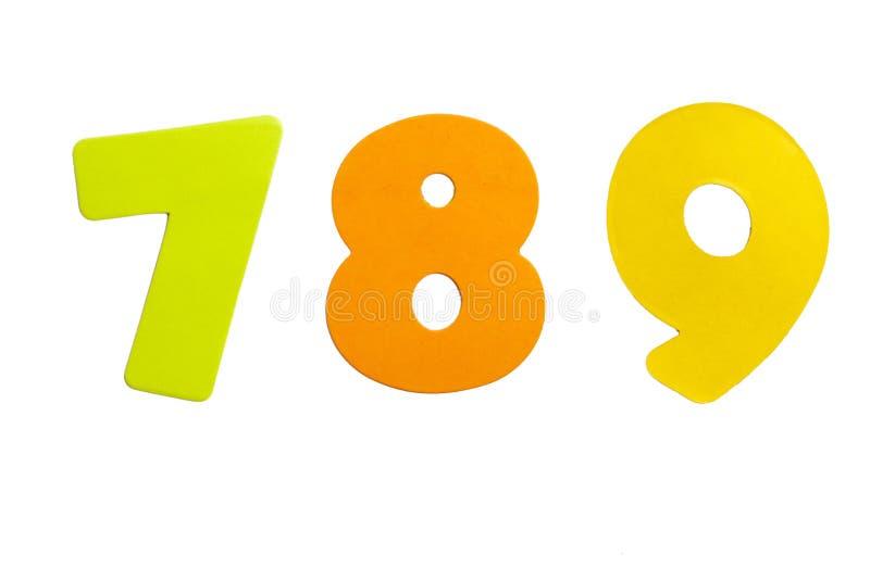 789 liczb fotografia stock