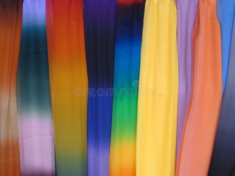 7958条五颜六色的围巾 库存图片