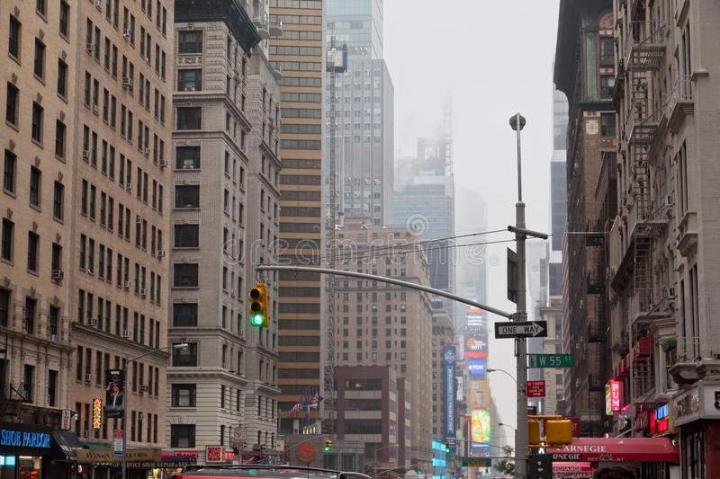 Download 7th Avenue Under The Fog New York City Editorial Image - Image: 20432060