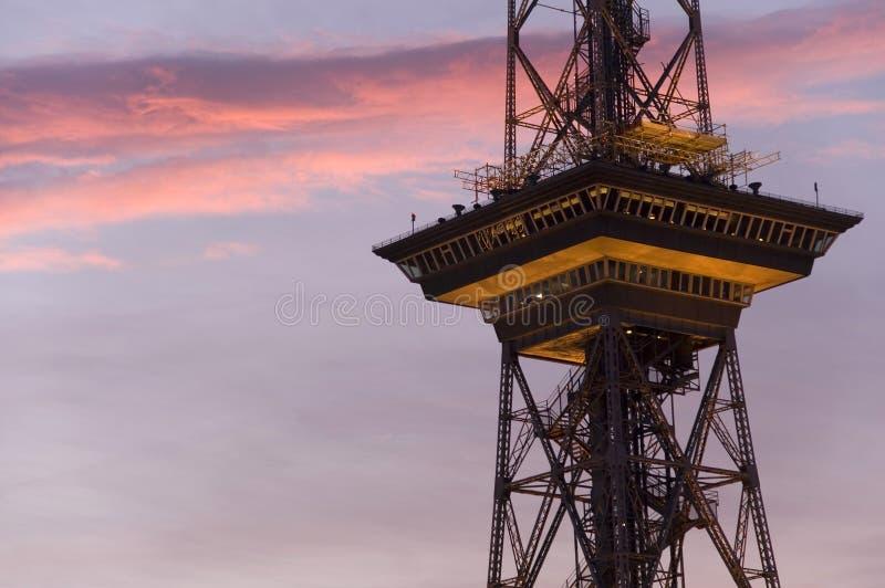 7th västra berlin radiotorn fotografering för bildbyråer