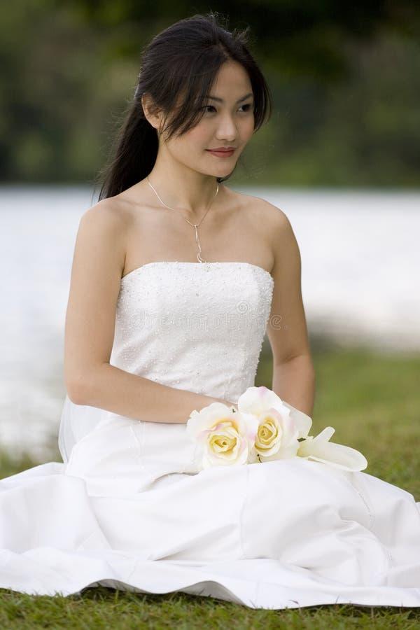 8个亚洲人新娘 库存照片