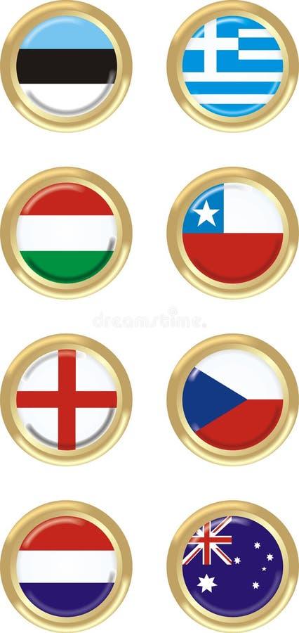 8个国家(地区) 向量例证