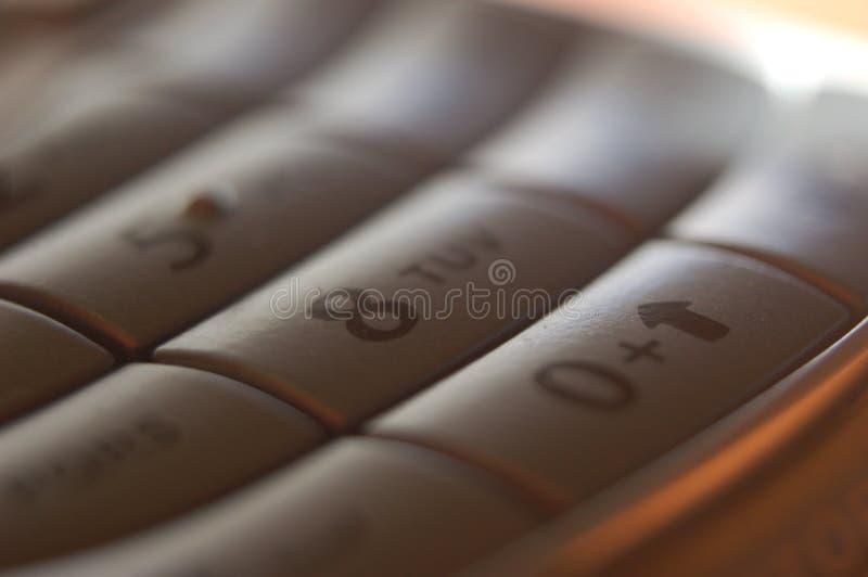 8个电池关键电话 免版税库存图片