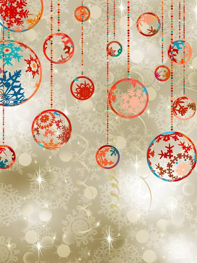 8个背景中看不中用的物品圣诞节典雅& 库存例证