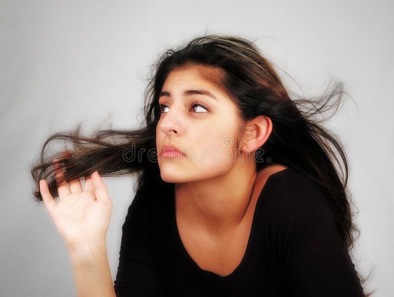 8个舞蹈头发 库存图片