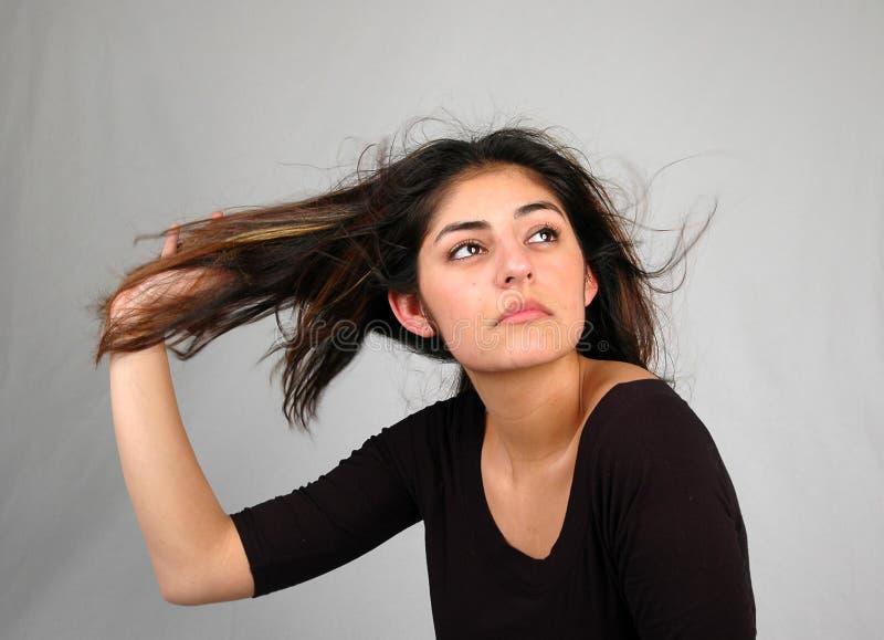 8个舞蹈头发 图库摄影