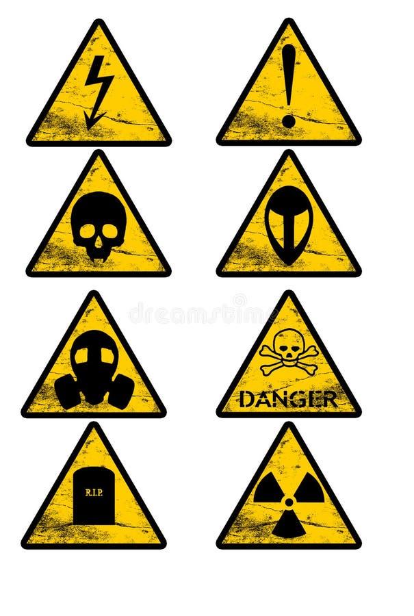 8个行业信号称呼警告 库存照片