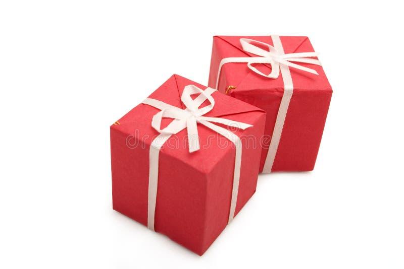 8个配件箱礼品 库存照片