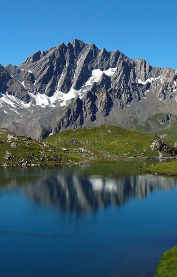 8个阿尔卑斯欧洲fenetre湖 免版税库存图片