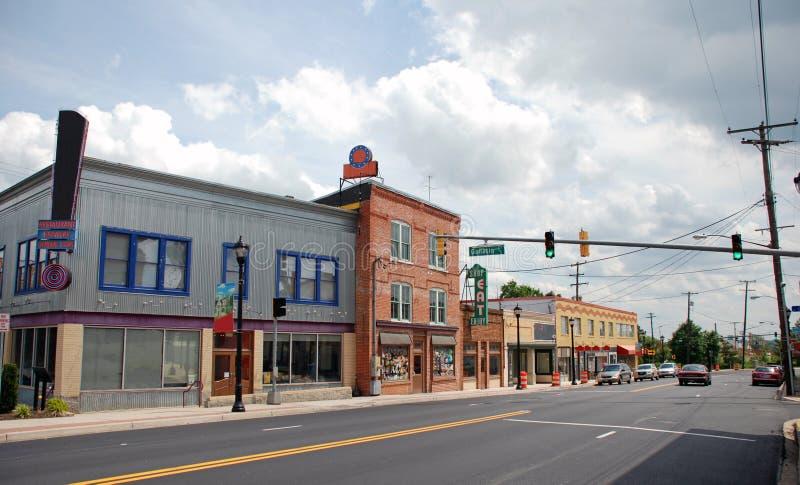 8主要小的街道城镇 免版税库存图片