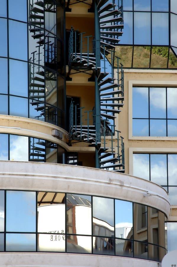 8大厦现代反映 库存照片