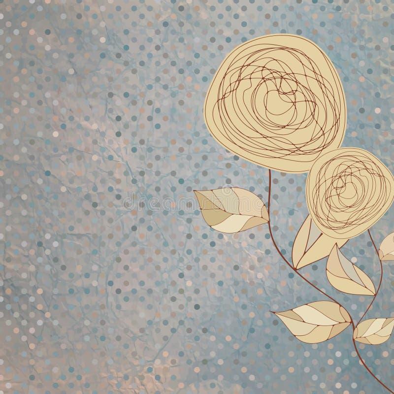 8朵eps花卉浪漫玫瑰葡萄酒 库存例证