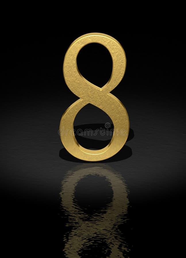 8编号 向量例证