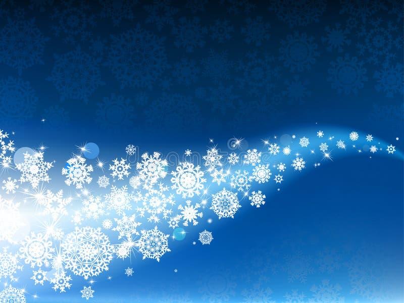 8 μπλε eps ανασκόπησης snowflakes χειμ ελεύθερη απεικόνιση δικαιώματος