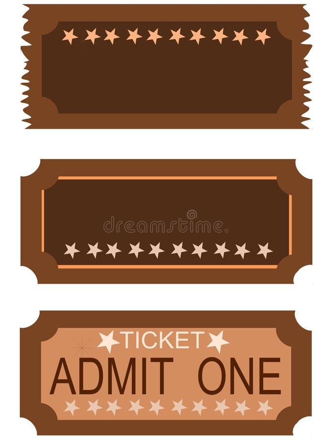 8 впускают один билет иллюстрация вектора