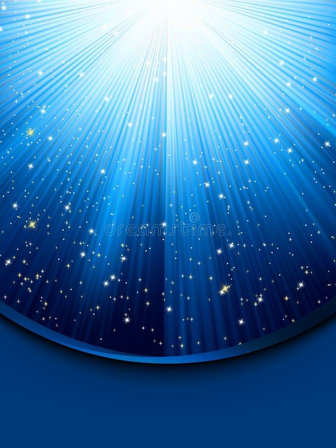 8 голубых лучей eps светящих бесплатная иллюстрация