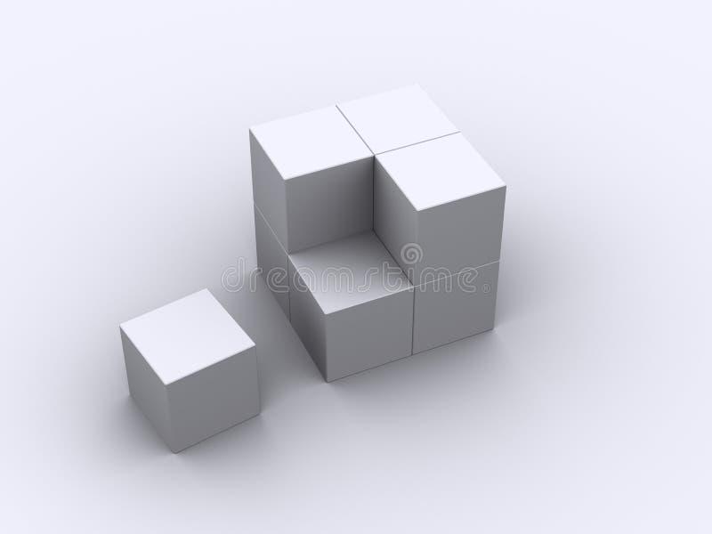 8 коробок стоковое изображение