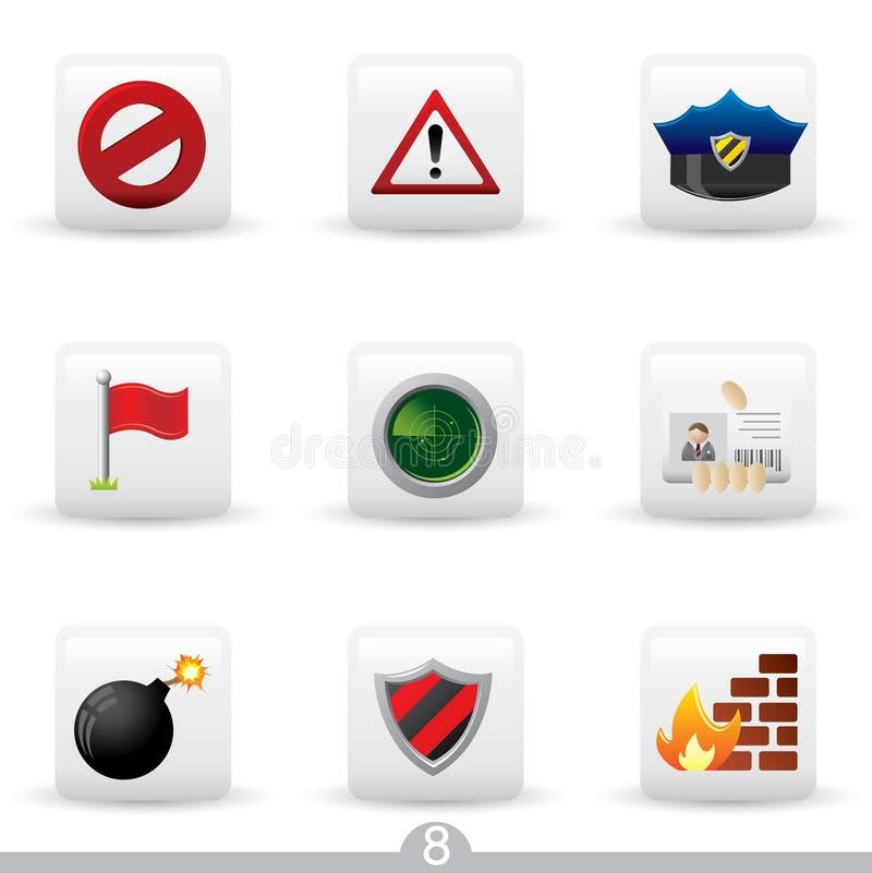 8 серий обеспеченностью иконы иллюстрация штока