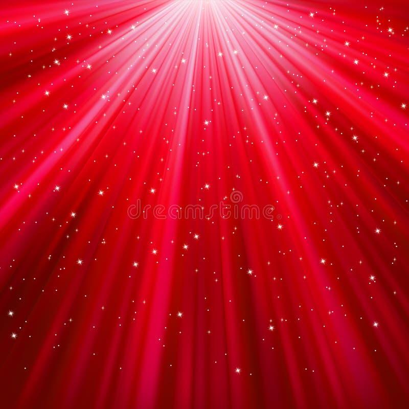 8 спуская звезд снежинок eps иллюстрация вектора