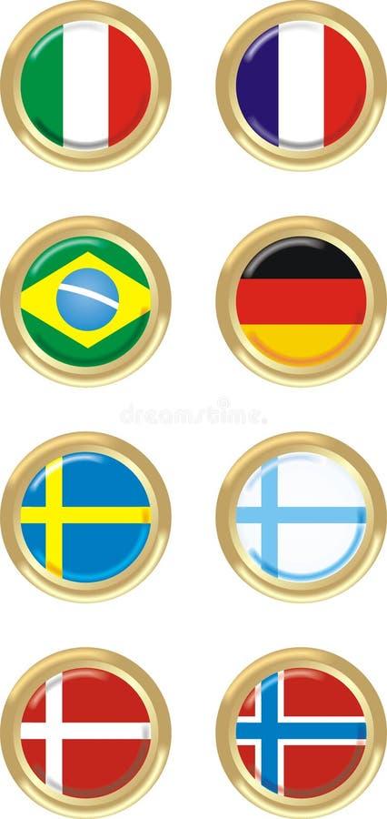 8 стран иллюстрация штока
