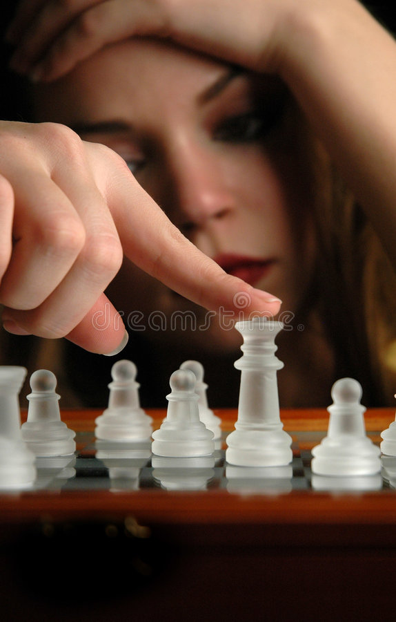 8 частей шахмат стоковая фотография rf