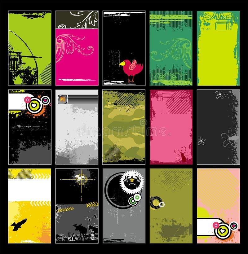 8 шаблонов визитных карточек иллюстрация штока