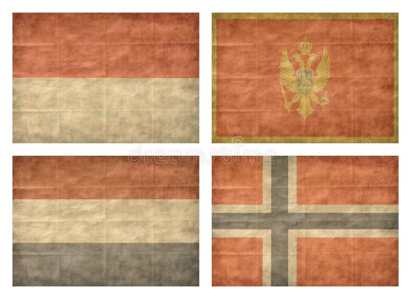 8 13 флагов европейца стран иллюстрация штока