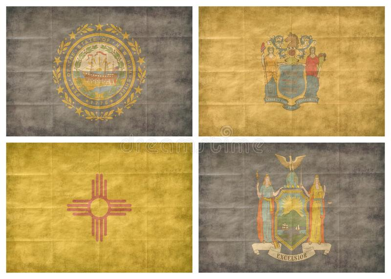 8/13 US state flags stock photography