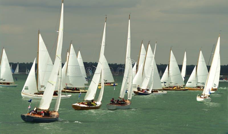 8 2010年cowes充气救生艇赛跑的星期 库存图片