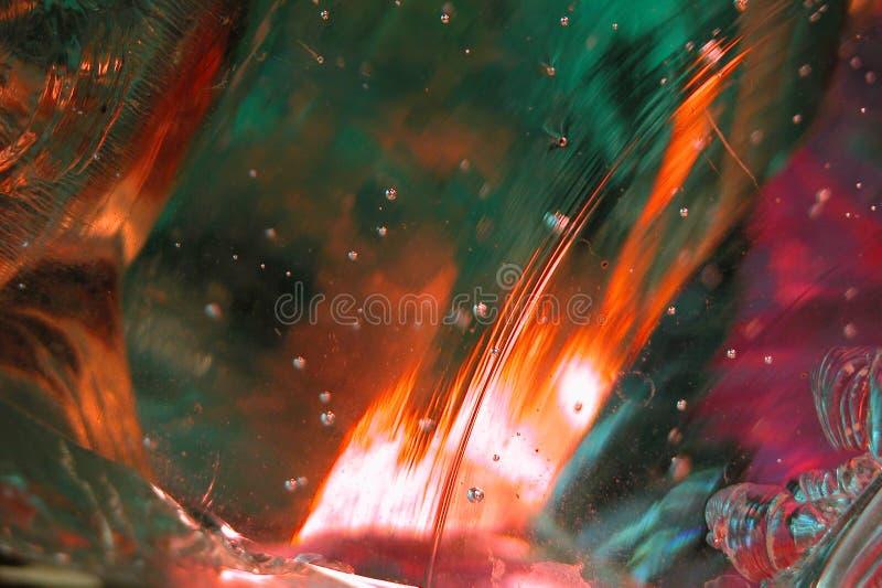 8抽象玻璃溶解 免版税库存图片