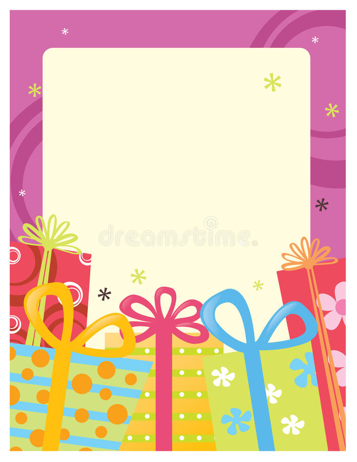 8.5x11 Flyer/Poster Template stock illustration
