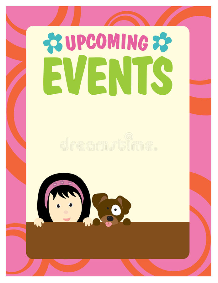 8.5x11 Girl and Dog Flyer vector illustration