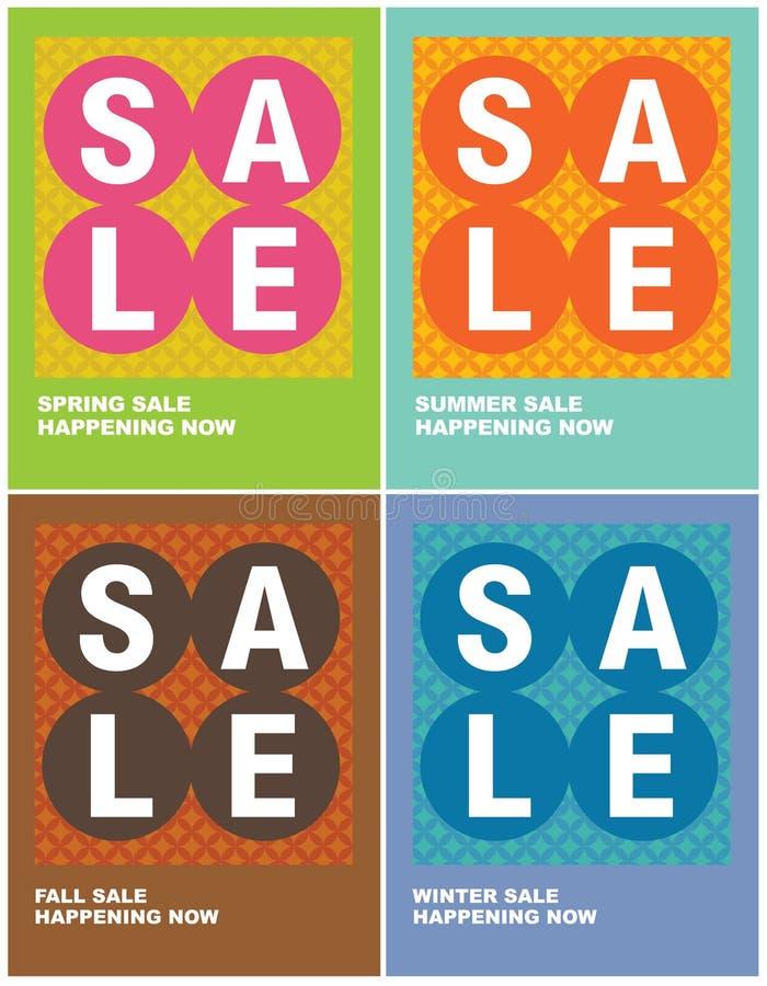 8.5x11 Seasonal Sale Flyers/Posters vector illustration