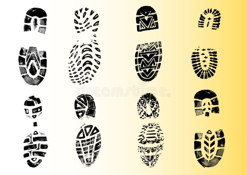 8 ausführliches Shoeprints 2 lizenzfreie abbildung