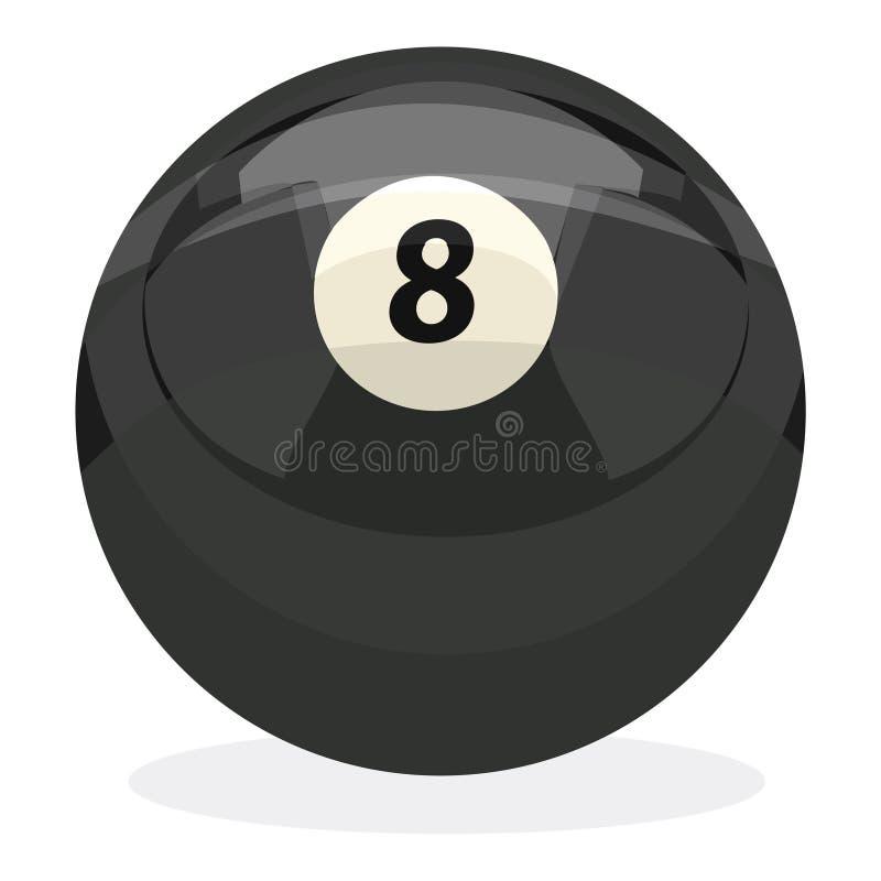8 bal met het knippen van weg royalty-vrije illustratie