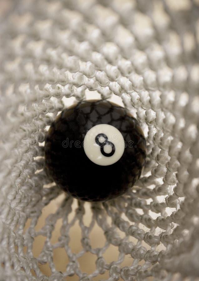 8 bal in zak - macro royalty-vrije stock afbeeldingen
