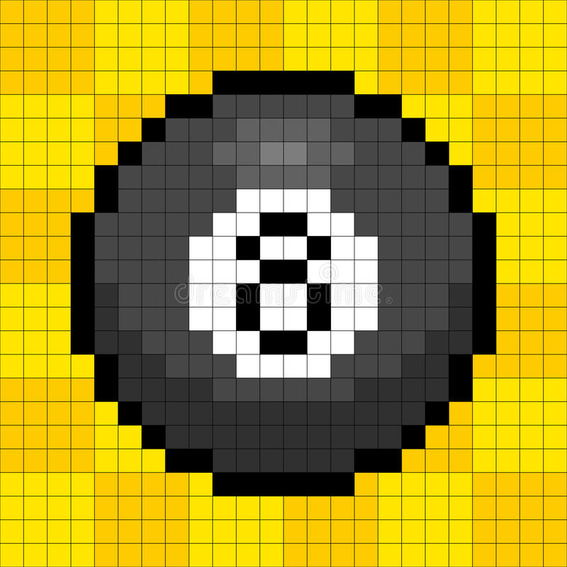 Free 8-bit Pixel 8-ball Stock Photography - 30566622