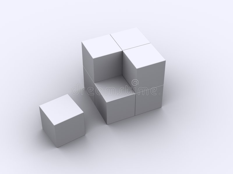 8 boxes stock image