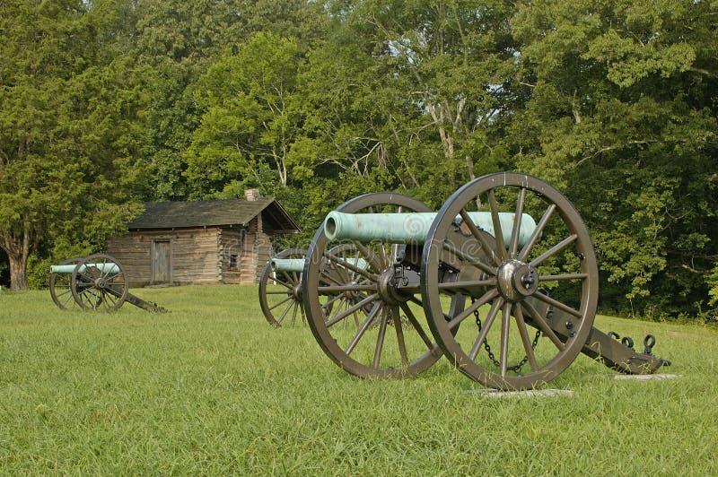 8 chickamauga kanonów wojna domowa zdjęcia stock